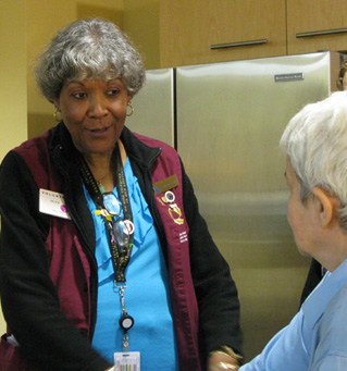 Image of  ELLICSR volunteer talking