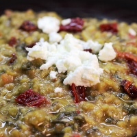 Image of Creamy Split Peas with Goat Cheese