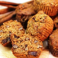 Image of Spiced Peach Muffins recipe