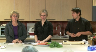 Image of Carroll Collins guest hosting the ELLICSR Kitchen class