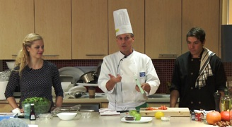 Image of Chef James Brown guest hosting the ELLICSR Kitchen class