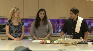 Image of Nadia Wasti guest hosting the ELLICSR Kitchen class