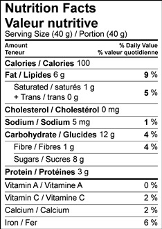 Image of nutrition facts table for No-Cook Coconut Key Lime Pie