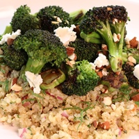 Image of Broccoli Quinoa Salad with an Almond Orange