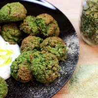 Image of Crispy Green Pea Fritters