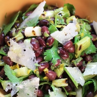 Image of Black Bean Salad with Charred Scallion and Mojito Dressing