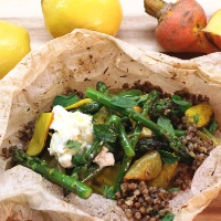 Image of Zesty Asparagus Salad with Buckwheat recipe