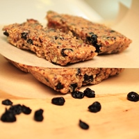 Image of Blueberry Quinoa Protein bars.