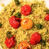 Image of the Couscous with Pumpkin Seed Pesto & Roasted Cherry Tomatoes (Pre-Workout)