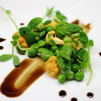 Image of Spring Succotash with Maple Balsamic Vinaigrette