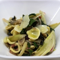 Image of Summer orecchiette with chard and fennel.