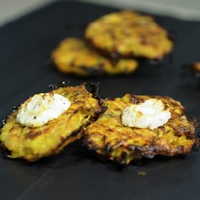 Image of Butternut Squash Latkes with Apple Goat Cheese