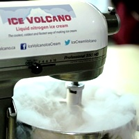 Image of ice volcano machine