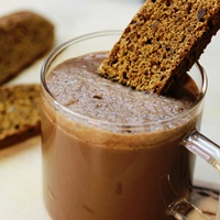 Image of Rich Hot Chocolate With Gingerbread Chestnut Biscotti