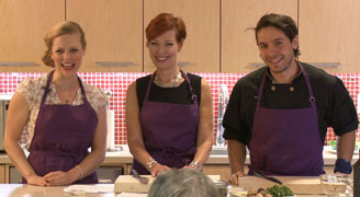 Image of Libby Znaimer guest hosting the ELLICSR Kitchen class