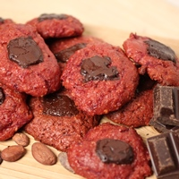 Image of the Chocolate Kissed Red Velvet Beet Cookies