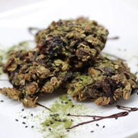 Image of Green Tea & Black Sesame Oatmeal Cookies