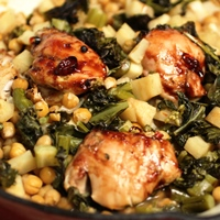 Image of Sticky Chicken & Chickpea Cassoulet