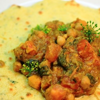 Image of jamaican curried chickpea roti