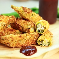 Image of Crispy Coconut Okra Poppers