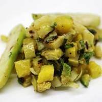 Image of the Grilled Chayote (Cho-Cho) Salsa