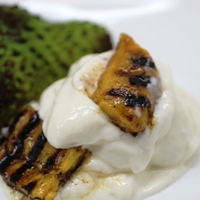 Image of Soursop Ice Cream with Grilled Spiced Plantains