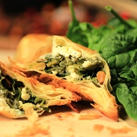Image of Spinach Phyllo Pies with Beetziki
