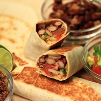 Image of a Red Quinoa & Kidney Bean Burrito