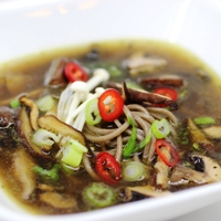 Image of mushroom and soba soup