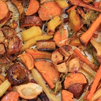 Image of Maple & Ginger Roasted Fall Vegetables.