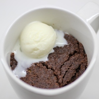 Image for Desneige's Chocolate & Pear Mug Brownies.