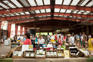 Image of a farmers market