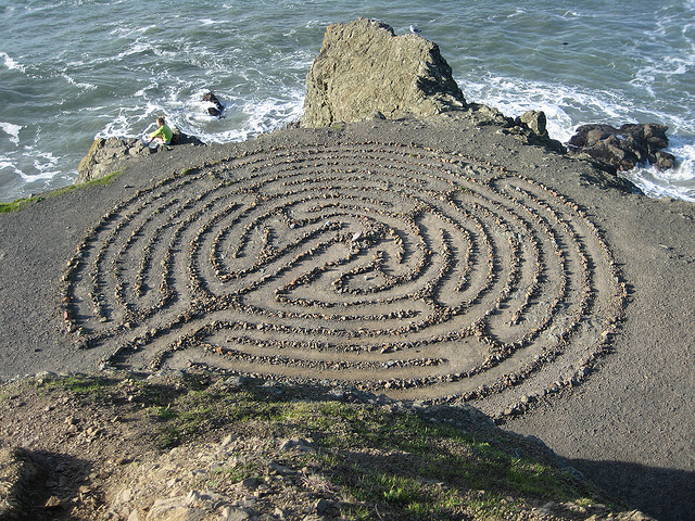 Image of an outdoor labyrinth