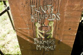 Image of a sign for the Trinity Bellwoods Farmer's Market
