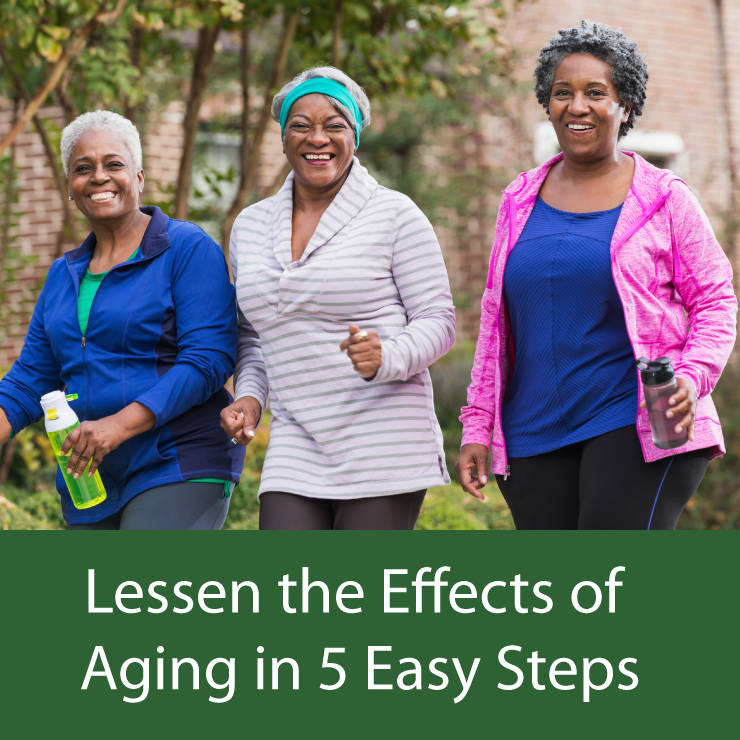 Image of three older ladies exercising and having fun