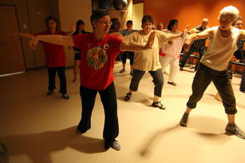 Image of a group exercise class